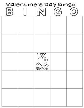 Print and Go Valentine's Day Bingo