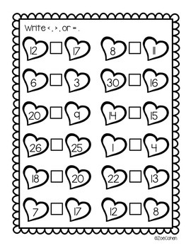 Print and Go: Valentine's Day Math Printables