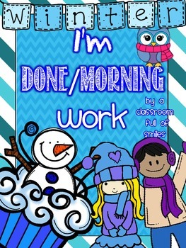 Print and Go Winter Themed I'm Done/Morning Work Packet