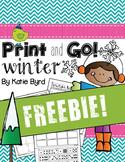 FREEBIE! Print and Go! Winter Math and Literacy (NO PREP)