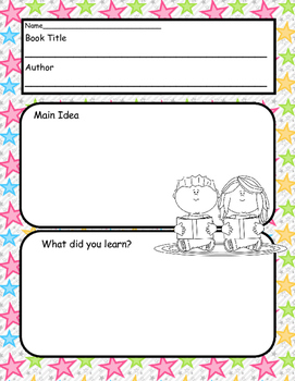 Print and Go! Written Response Templates
