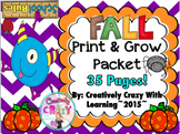 Print and Grow Fall Packet (35 Pages)