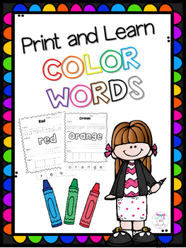 Print and Learn Color Words