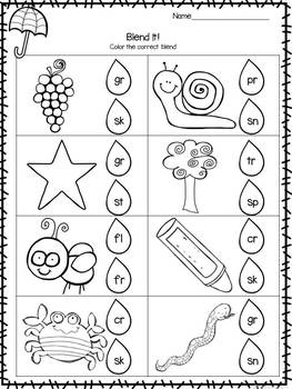 Print and Learn: Literacy and Math Worksheets-April