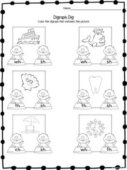 Print and Learn: Literacy and Math Worksheets-February