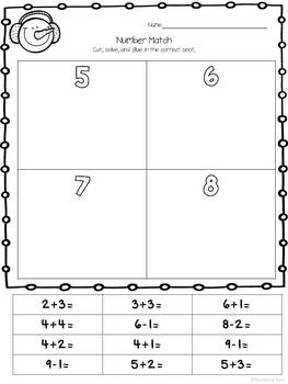 Print and Learn: Literacy and Math Worksheets-January