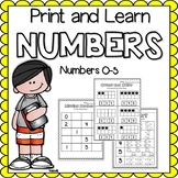 Print and Learn- NUMBERS {0-5}