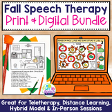 Print and No Print Fall Speech Therapy Activities