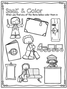 Print and Play Airplane Activities