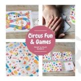 Print and Play Circus Games for Preschool Math Fun