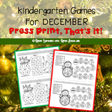Print and Play Games for Kindergarten (Dec. Themed FREEBIE)
