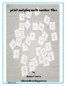 Print and Play Math Number Tiles