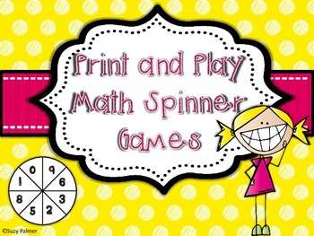 Print and Play Math Spinner Games (2nd Gr. CCSS)