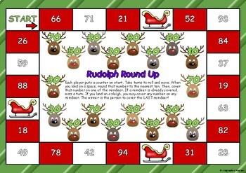 Print and Play Maths Games (Christmas themed)