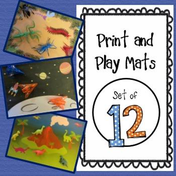 Print and Play Mats... Set of 12