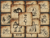 Print and Play Memory Game Alice in Wonderland Vintage Ill