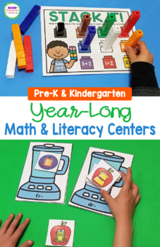 Print and Play Pre-K and Kindergarten Centers GROWING BUNDLE