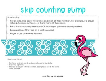 Print and Play Valentine's Day Multiplication Bump