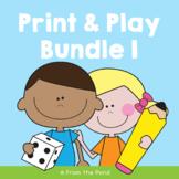 Print and Play Worksheets - Bundle 1