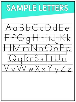 Print and Practice Alphabet Handwriting Pages
