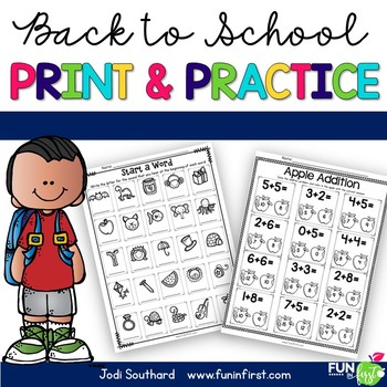 Print and Practice - Back to School