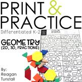 Print and Practice Geometry