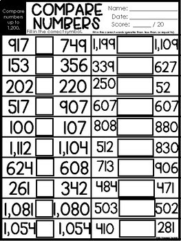 Print and Practice Place Value