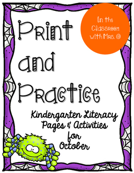 Print and Practice Literacy for October
