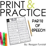 Print and Practice Parts of Speech