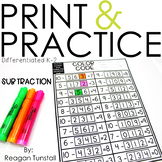 Print and Practice Subtraction