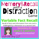 Print and Present Executive Function:  Memory and Recall w