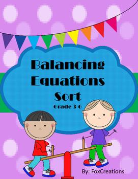 Print and Sort! Balanced Equation Sort!