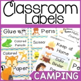 Camping Themed Classroom Labels