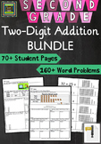 2nd Grade Math Unit: Two Digit Addition Problem Solving Bundle***ZIP