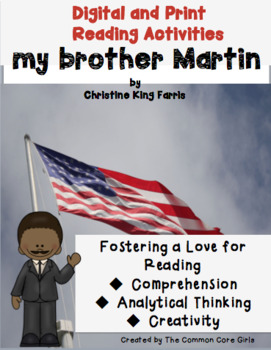 Martin Luther King Jr.- Print and Teach Read Aloud: my brother Martin