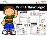 Print and Think Logic Matrix Puzzles Level A