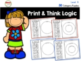 Print and Think Logic Category Puzzles Level A