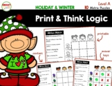 Print and Think Logic Matrix Puzzles (Holiday and Winter) Level A