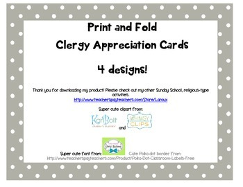 Print and fold Cleregy appreciation cards for students to make ~ 4 designs