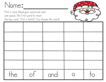 Print and go! Sight Word Practice!