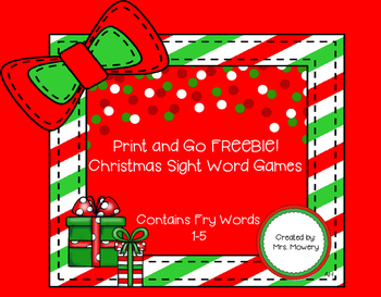 Print and go!  Sight Word Practice FREEBIE!