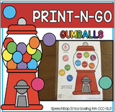 Print-n-Go - Articulation Activity - Gumball Edition!