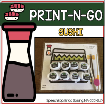 Print-n-Go - Articulation Activity - Sushi Edition!