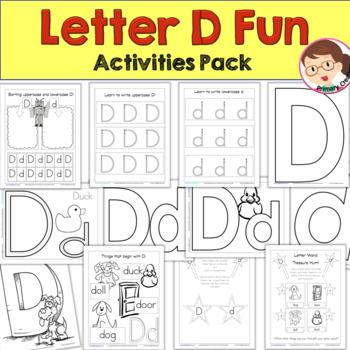 Print 'n' Go Letter D by Educational Creations | Teachers Pay Teachers