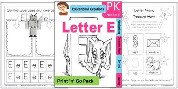 Print 'n' Go Letter E