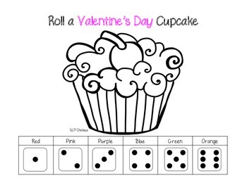 Print 'n' Go: Roll A Valentine's Day Cupcake