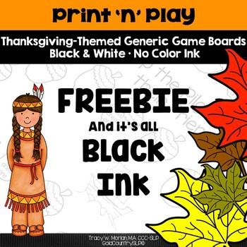 Print 'n' Play - Thanksgiving FREEBIE