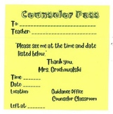 Print on Post Its Counselor Passes - Print Anything on a Post It