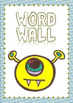 Printable Monster Word Wall Sign