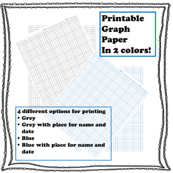 Printable 1 4 Inch Graph Paper By Geoklectic Teachers Pay Teachers